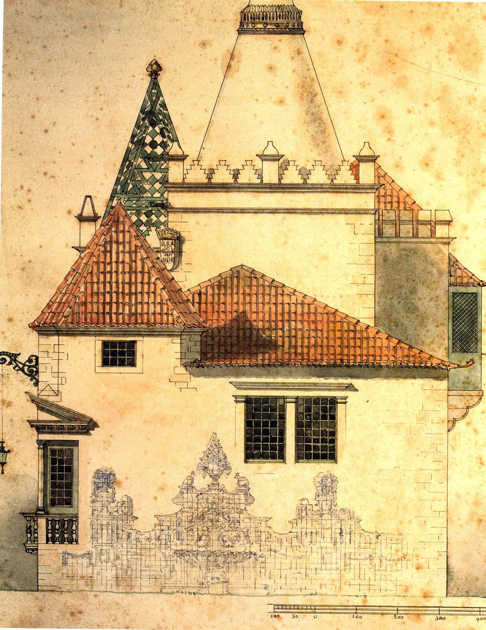 Pormenor do Pavilhão português -  Projecto de Ra