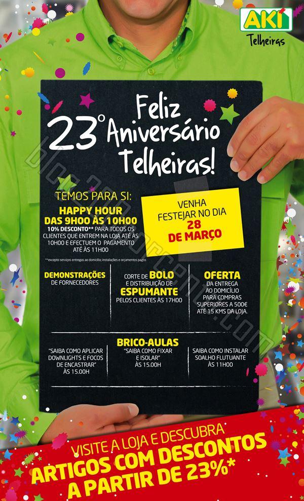 Promoções AKI Telheiras 23º Aniversário dia 28