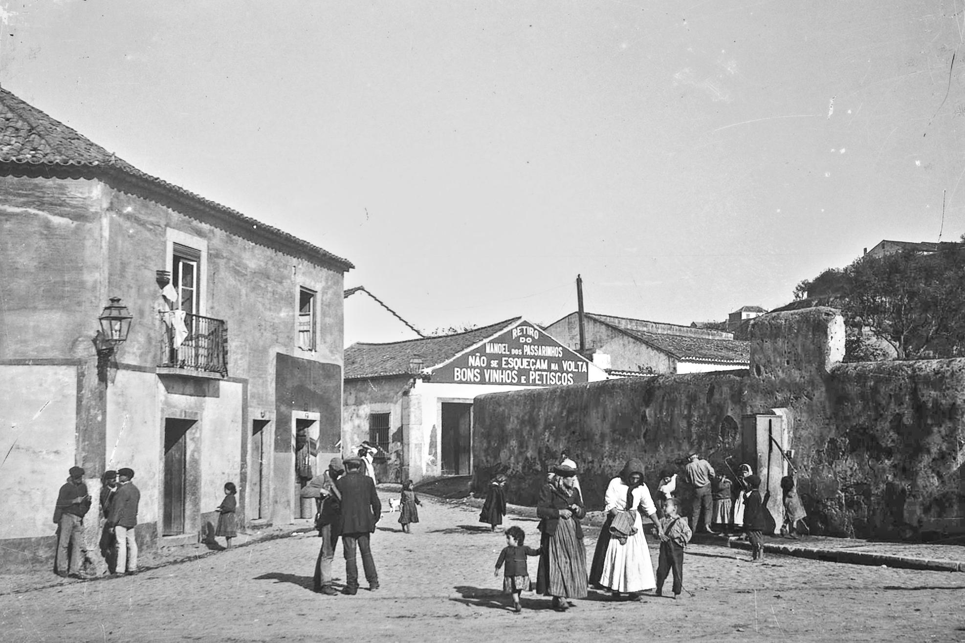 Retiro do Manoel dos Passarinhos, Poço dos Mouros (J. Benoliel, c. 1910; A.F.C.M.L., A74731)
