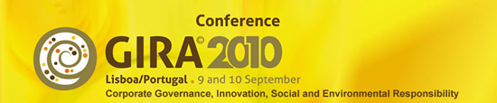GIRA 2010 Conference on Corporate Governance, Innovation, Social and Environmental Responsibility
