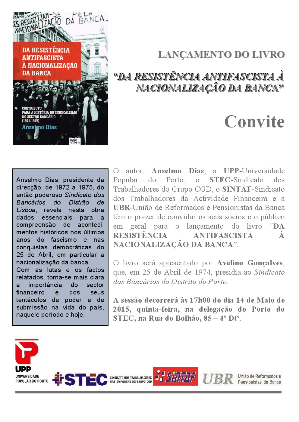 UPP Nacionalização Banca