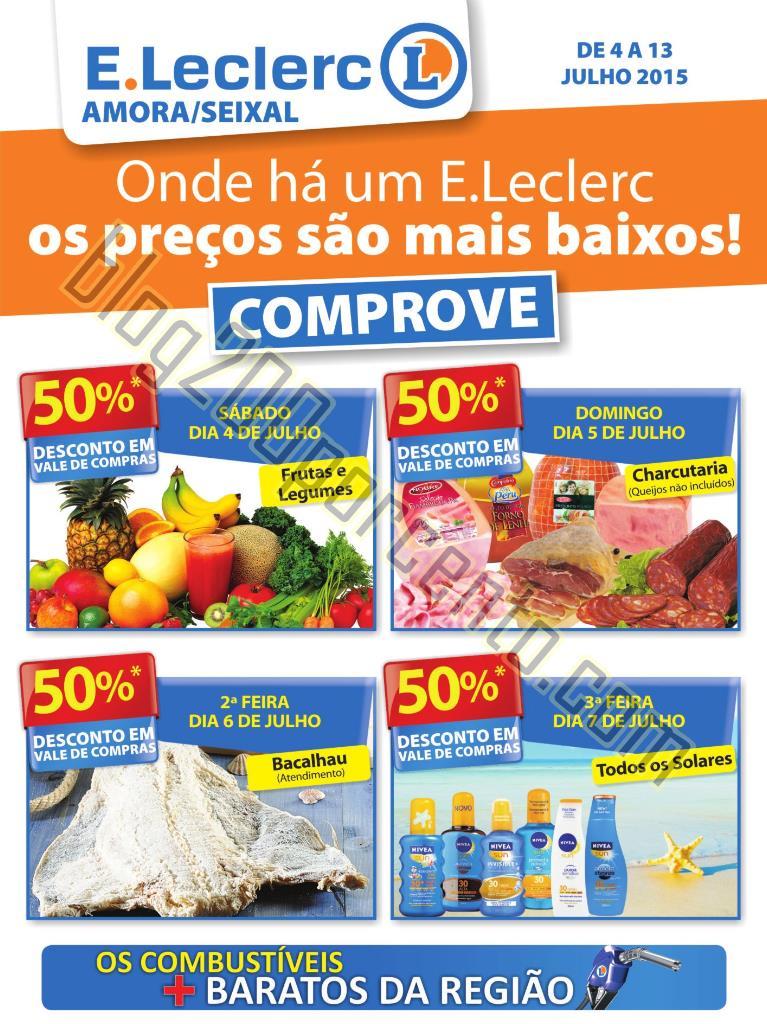 Antevisão Folheto E-LECLERC AMORA - SEIXAL de 4 a