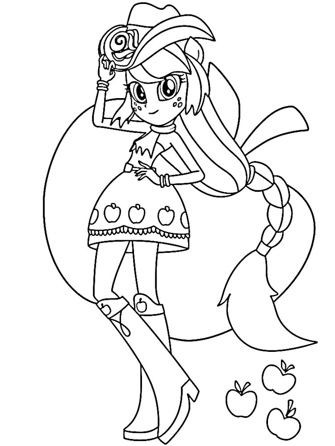 Desenhos Equestria Girl para colorir - My Little Pony - Brinquedos ...