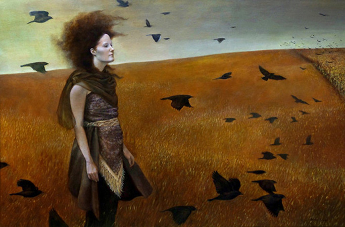Andrea Kowch - Blackbirds Are Gathering.jpg