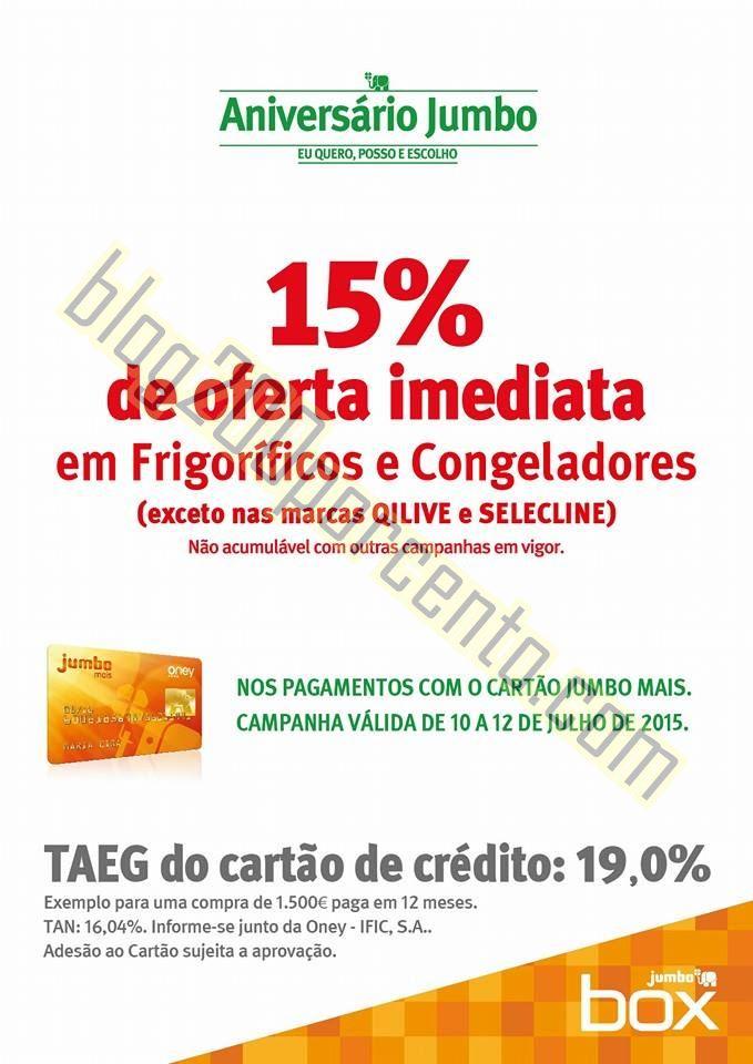 Antevisão 15% de desconto JUMBO - BOX de 10 a 12