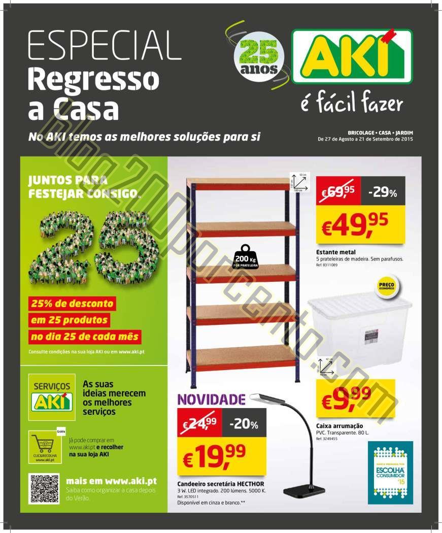 Novo folheto AKI Regresso a Casa de 27 agosto a 21
