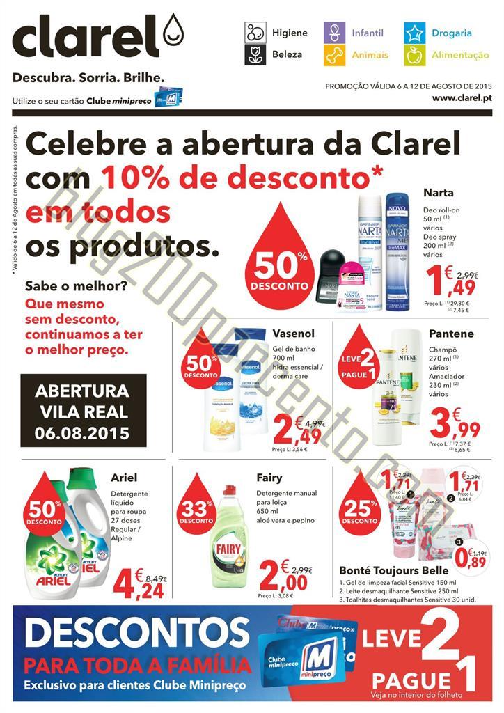Antevisão Folheto CLAREL Aberturas de 6 a 12 agos