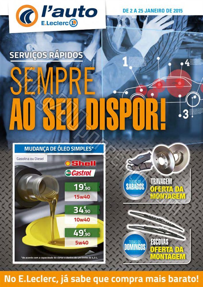 Antevisão Folheto E-LECLERC Auto de 2 a 25 janeir