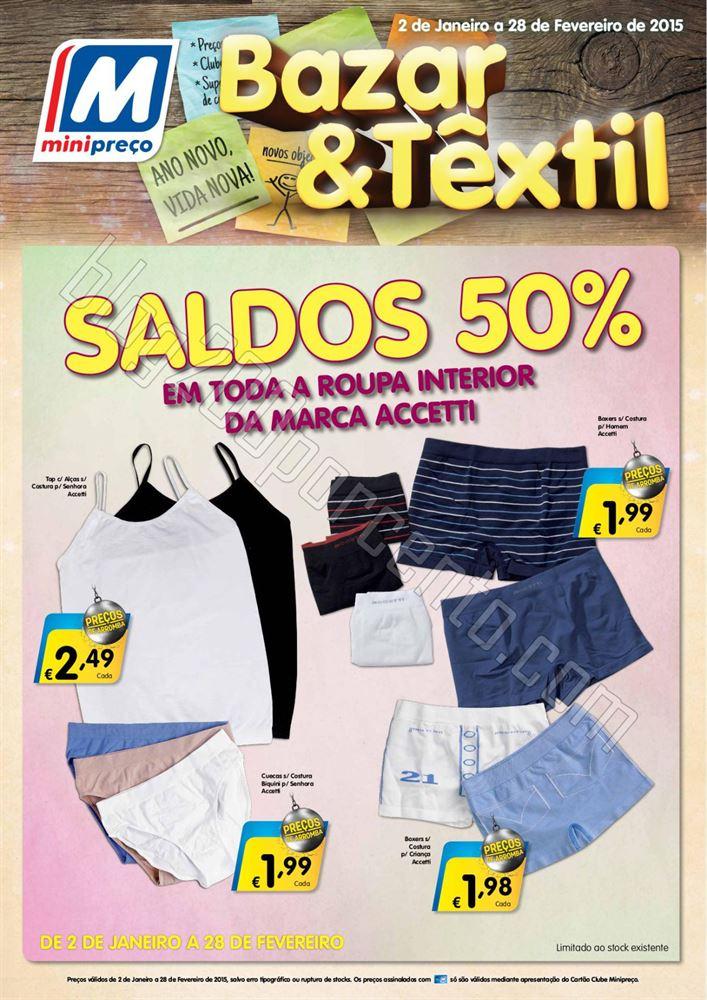 Antevisão Folheto MINIPREÇO Bazar de 2 a 14 jane