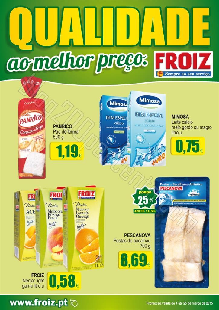 Novo Folheto FROIZ promoções até 25 março p1.j