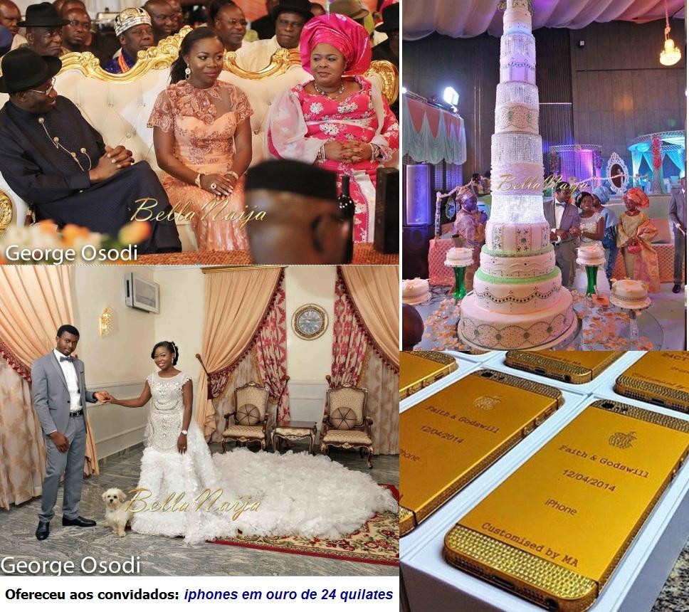 Presidente nigeriano Goodluck e filha Faith iphone