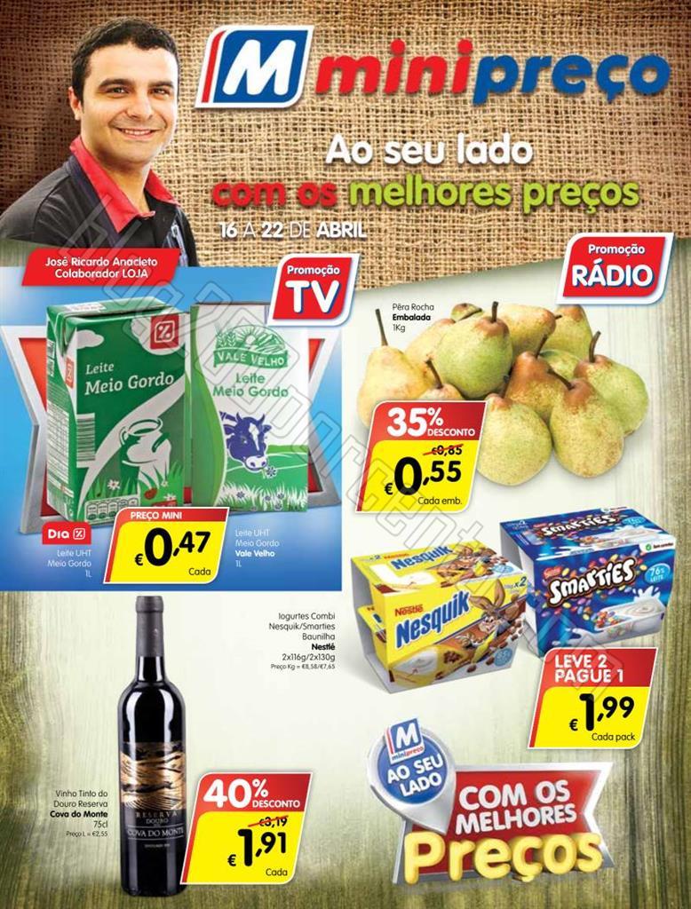 Antevisão Folheto MINIPREÇO Promoções de 16 a