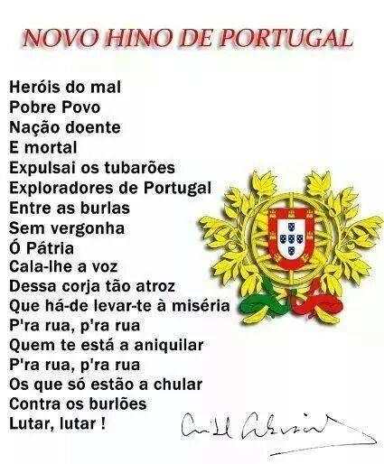 hino de Portugal e corrupção