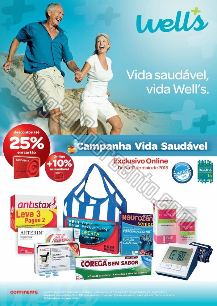 Novo Folheto WELLS Vida Saudável de 5 a 31 maio d