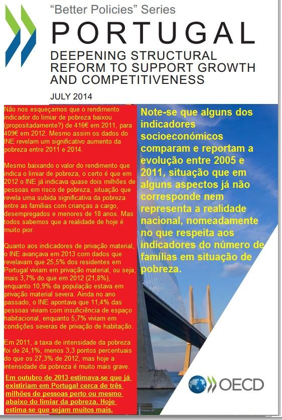 Indicadores sobre a pobreza  Dados Europeus e Nacionais ocde Portugal