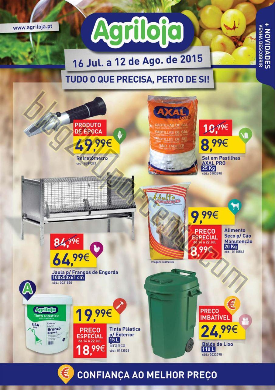 Antevisão Folheto AGRILOJA Promoções de 16 julh