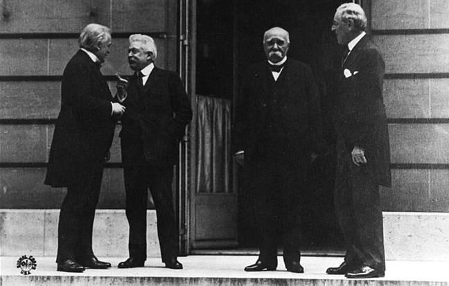 lideres-reunidos-versalhes -  Lloyd George, Vittor