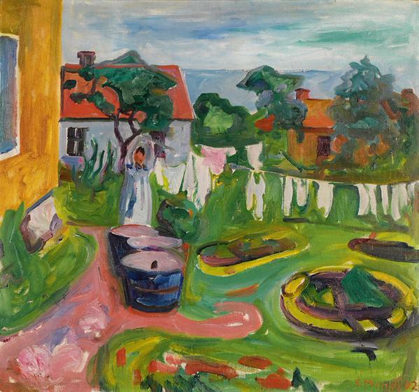 Edvard Munch ~ Clothes On A Line In Åsgårdstrand