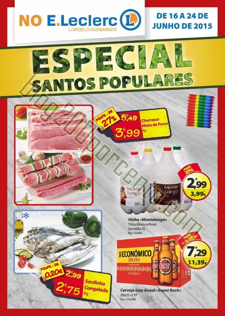 Novo Folheto E-LECLERC Lordelo Santos Populares at