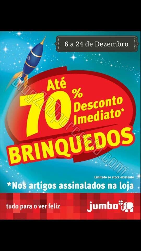 70% desconto Brinquedos JUMBO de 6 a 24 dezembro.j