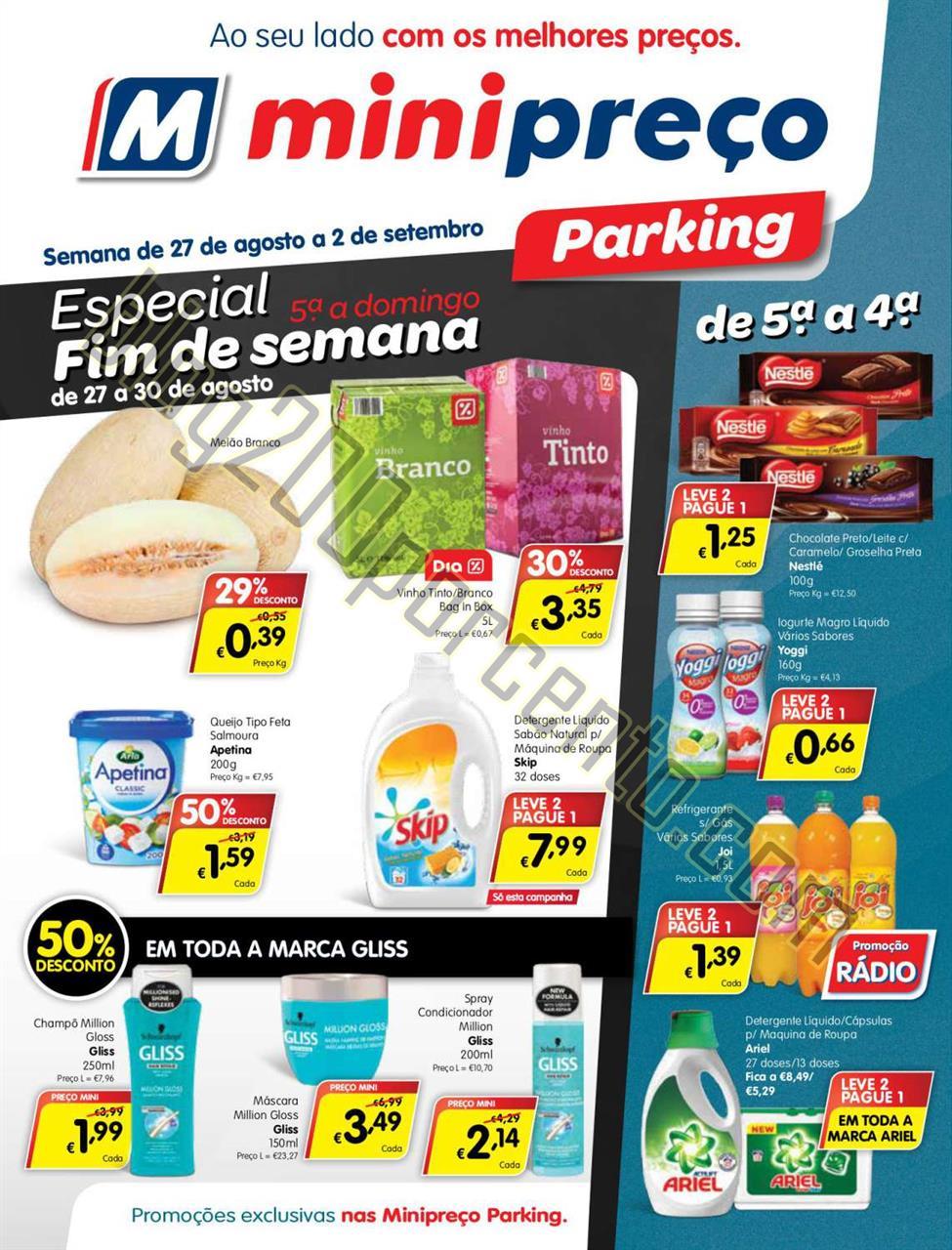 Antevisão Folheto MINIPREÇO Parking de 27 agosto