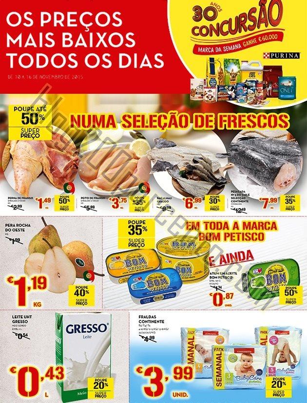 Antevisão Folheto CONTINENTE Promoções de 10 a