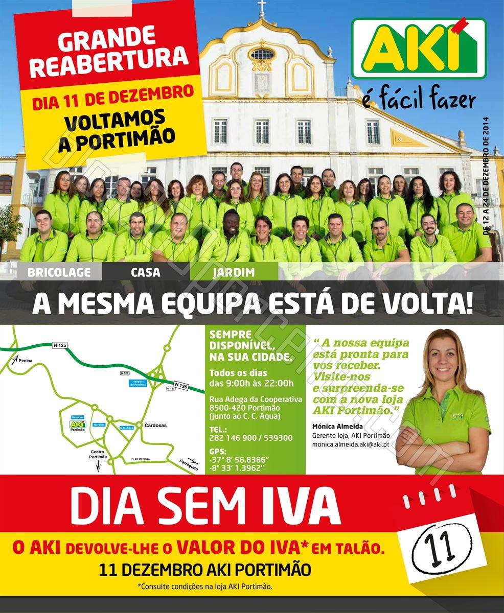 Antevisão Folheto Reabertura AKI Portimão de 11