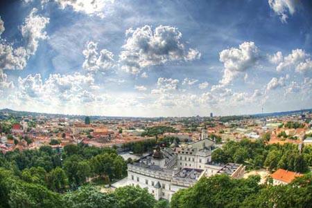 A capital da Lituânia, Vilnius, é o centro urban