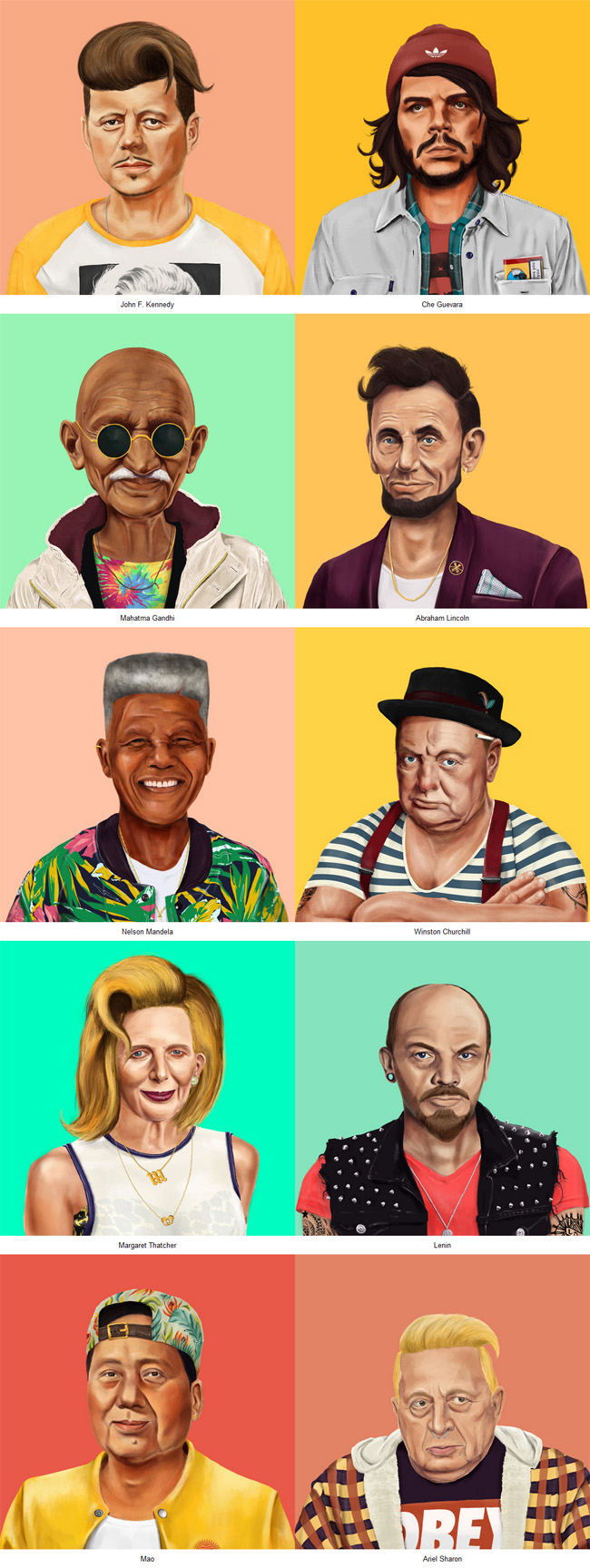 World Leaders as hipsters by Amit Shimoni