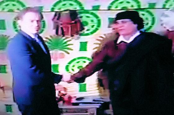 Blair e Khadafi