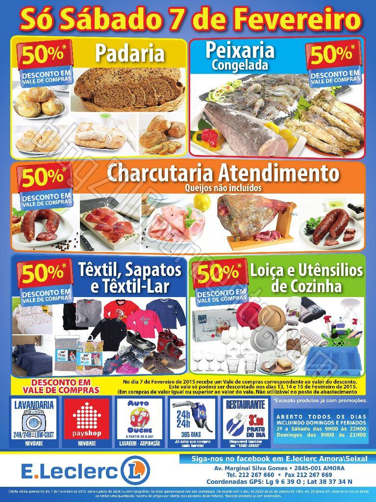 Antevisão Folheto E-LECLERC Amora-Seixal 7 fevere