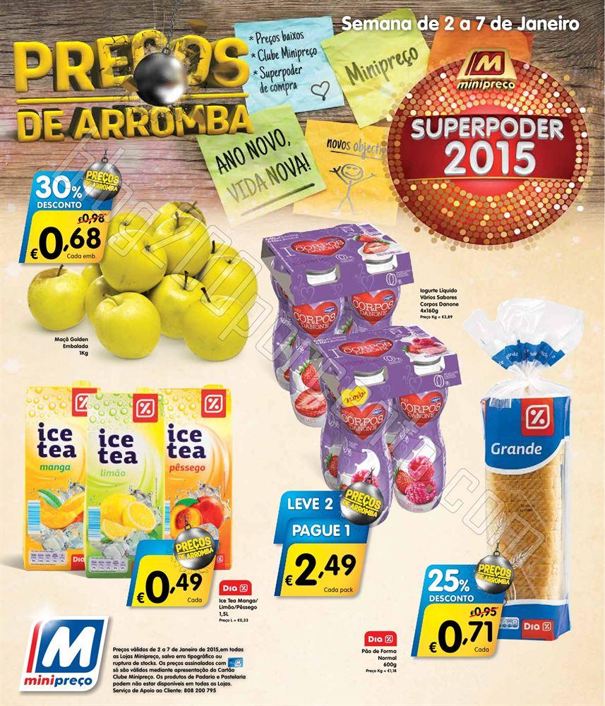 Antevisão Folheto MINIPREÇO de 2 a 7 janeiro o1.