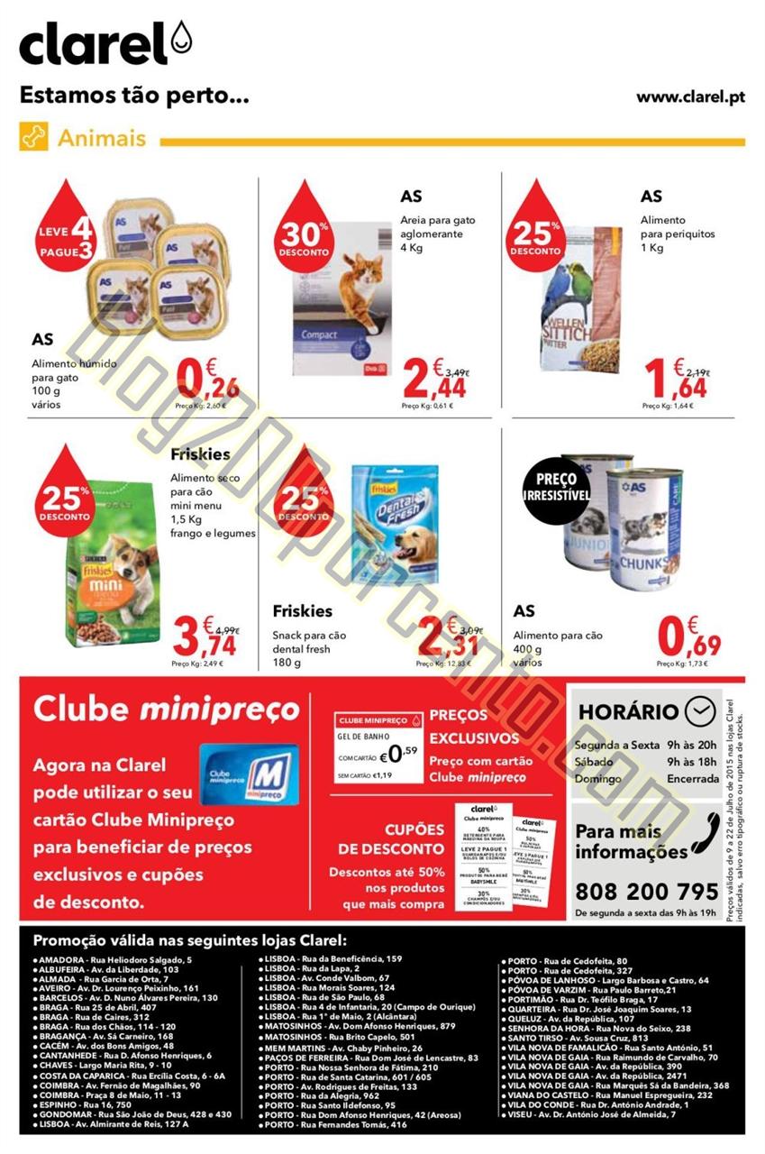 Antevisão Folheto CLAREL Promoções de 9 a 22 ju