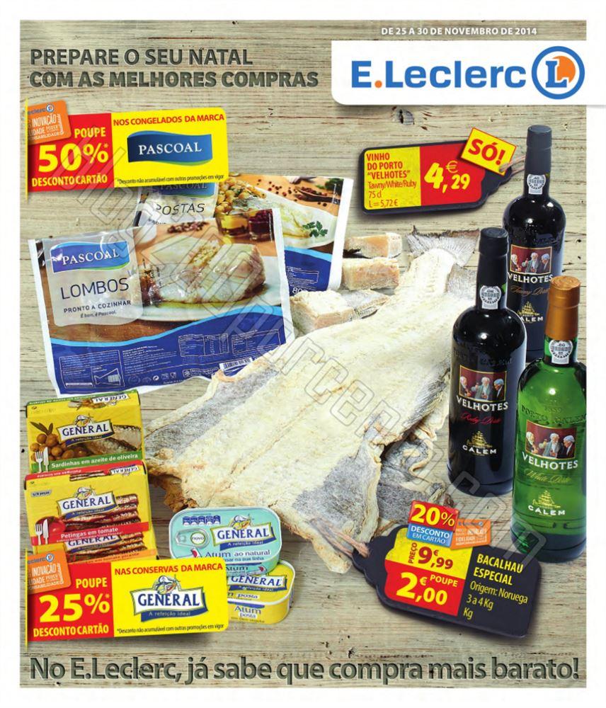 Antevisão Folheto E-LECLERC de 25 a 30 novembro p
