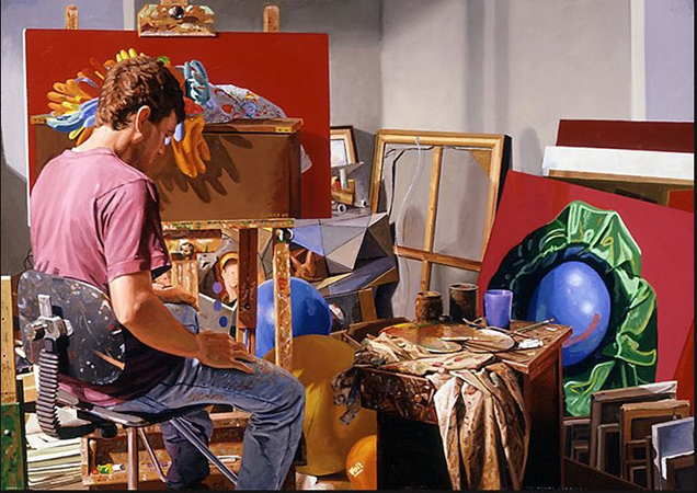 Mikel Glass - Artist in Studio Museum of Realist A