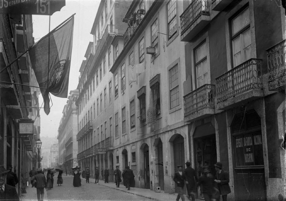 Rua dos Correeiros, Lisboa (J. Benoliel, início do séc. XX.)