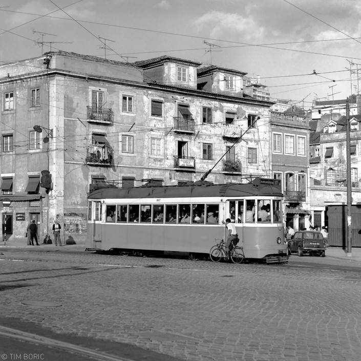 Eléctrico 807, Rua da Palma (fim Boric, 1980)