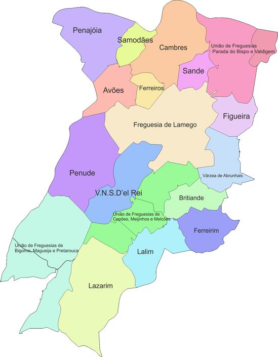 mapa do concelho de lamego Freguesias Concelho de Lamego   VALDIGEM mapa do concelho de lamego